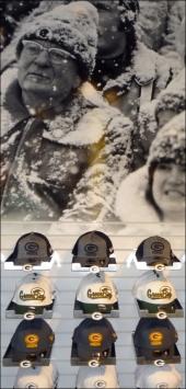 Baseball Caps for Football Season CloseUp