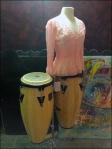 Bongo Drum Dress Form Angled