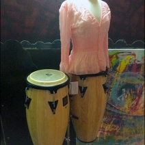 Bongo Drum Dress Form Angled