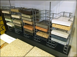 CaesarStone Open Wire Sample Rack 1