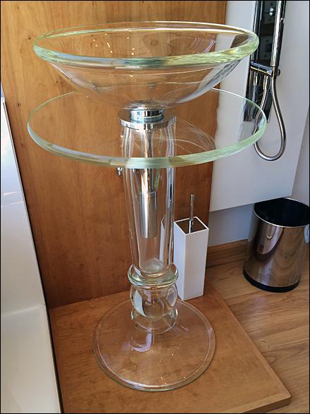 Glass Pedestal Sink Self Merchandising 1