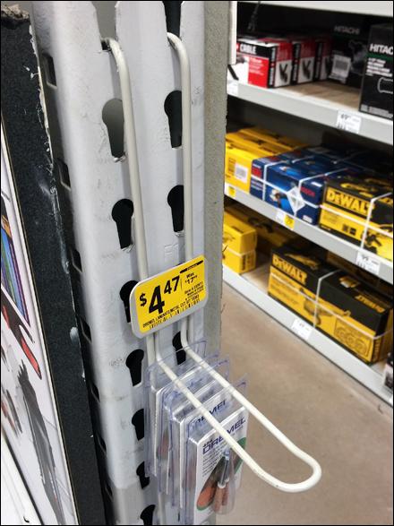 Loop Hook Strip Merchandiser Side