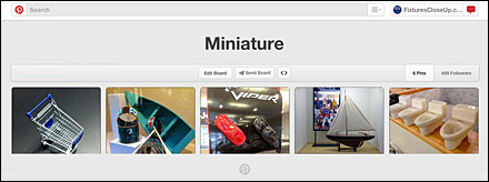 Minitures Pinterest Board
