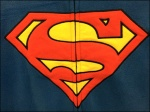 Adult Halloween Jammies SuperMan Logo