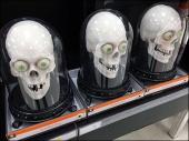 Bell Jar Skulls for Halloween Triple