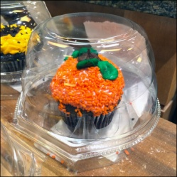 Halloween Cupcake Bell Jar