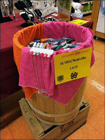 Nail-Polish Wood Bulk Barrel Display