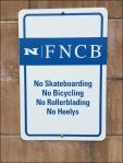 No Wheeled Bank Traffic Main