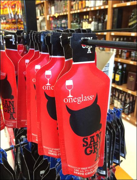 One Glass Wine Pouch Merchandising CloseUp