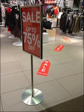 Sale Floor Graphic Breadcrumb Trail 1