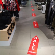 Sale Floor Graphic Breadcrumb Trail 3