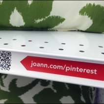 JoAnns Pinterest QR Code Shelf Edge C-Channel Flag