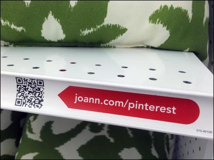 JoAnns Pinterest QR Code Shelf Edge C-Channel  Flag