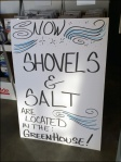 Snow Shovels and Salt In GreenHouse Department Aux