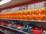 Target Wall of Pumpkins Shallow Angle