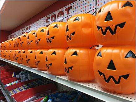 Target Wall of Pumpkins Steep Angle