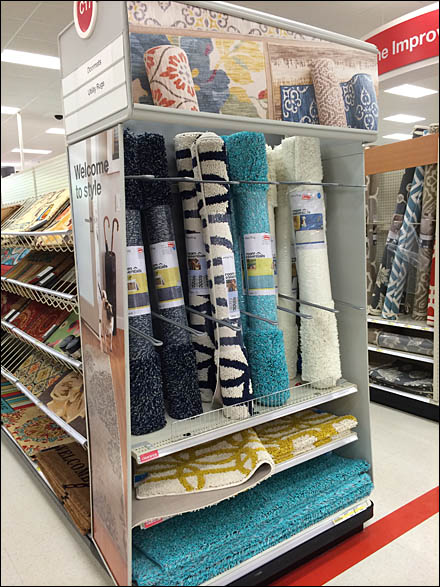 Carpet Endcap Upright Divided Display Main