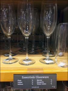 Essential Glassware Shelf Edge Tag Main