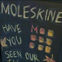 Moleskine Fall Collection Chalkboard Logo