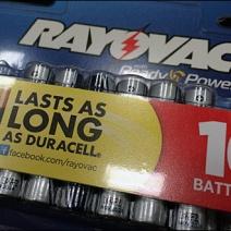 Rayovac As Good As Duracell Closeup