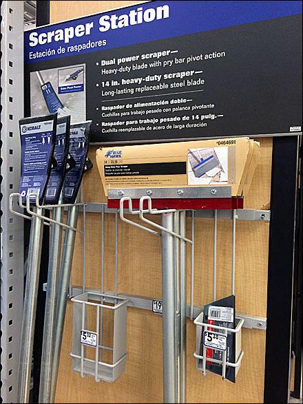 Scraper Station Utility Hook Literature Holder Main