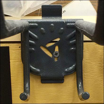 Screw Mount Slatwall Utility Hook Backplate Detail