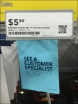 See Customer Specialist Front Tag Detail