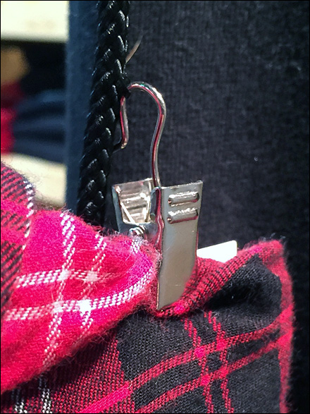 Paracord Clip for Flannel Display
