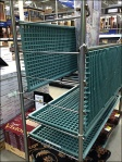 Plastic Grid Shelf Tansport Cart Folded Main2