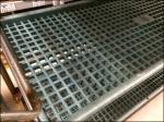 Plastic Grid Shelf Tansport Cart Aux