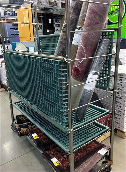 Plastic Grid Shelf Tansport Cart Folded Main1