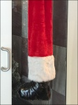 Pulling Santa's Leg Close Up