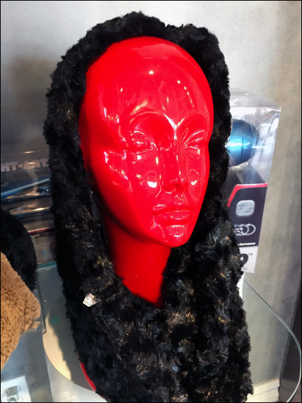 Red Headform With Winter Wrap Main