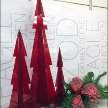 Red PlexiGlass Christmas Trees 1