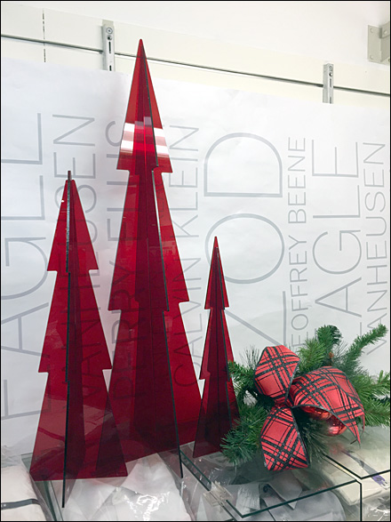 Red PlexiGlass Christmas Trees 1