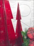 Red PlexiGlass Christmas Trees 3