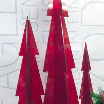 Red PlexiGlass Christmas Trees