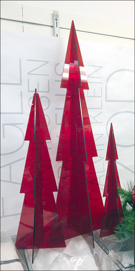 Red PlexiGlass Christmas Trees