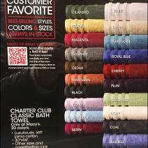 Defining Towel Color By Name and QR Code