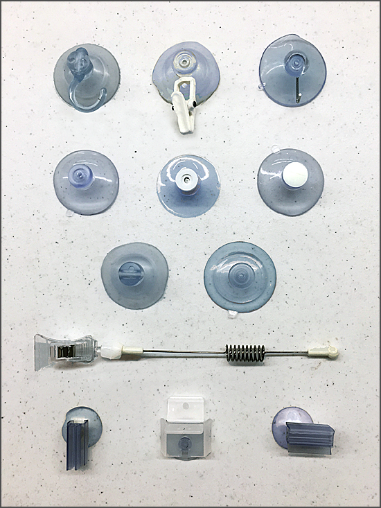 Clip Strip Suction Cup Sampler 550