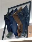Floating Frame Apparel Display Jeans