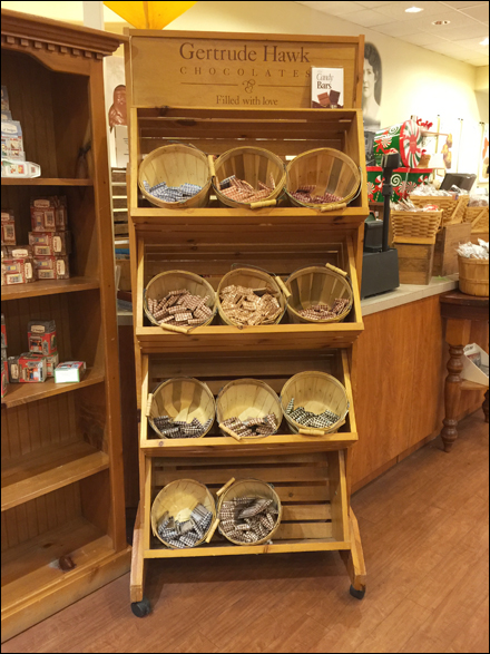 Gertrude Hawk® Rustic Bushel Bulk Basket Display