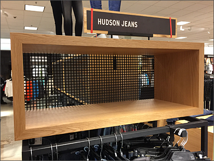 Hudson Jeans Square Hole Perforated Metal Back