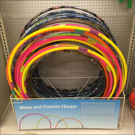 Cosmic Hula Hoop On-Shelf Rack Keeper