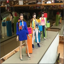 Retail Drive By on Macy's Canvas Covered Pedestals
