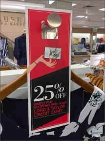 Lord & Taylor 25% Door Hanger Main
