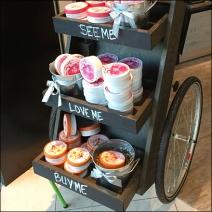 Wheeled Sample Cart Chalkboards 3