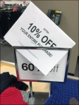 60 + 10 Off Table Top Sign Detail