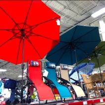 Beach Umbrella Warehouse Overhead 1