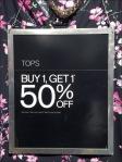 Blouse Clothes Hanger Faceout Sign Closeup